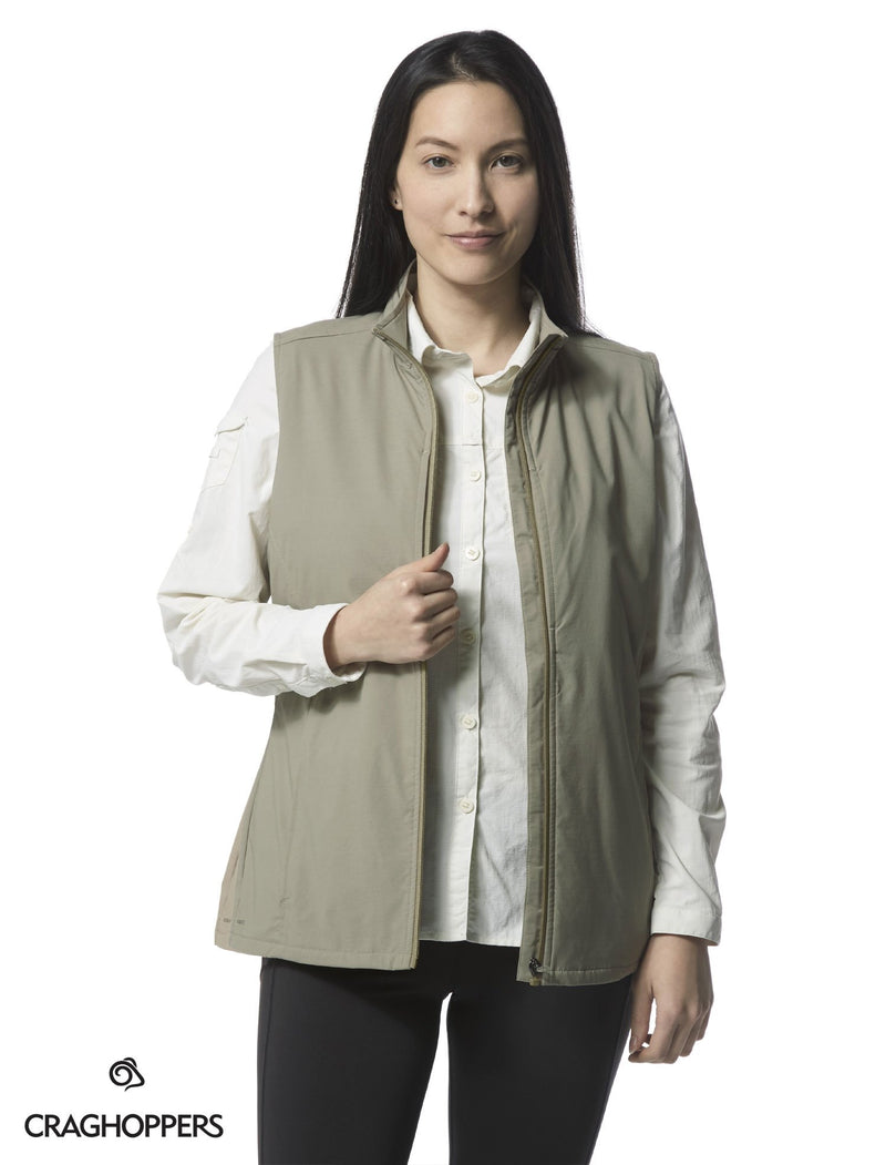 Mushroom Craghoppers Allegra Ladies Multi-pocket Travel gilet