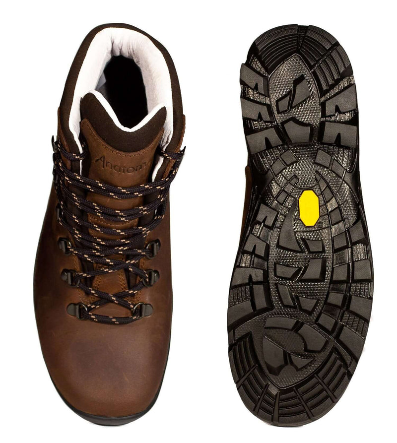 Sole and upper view Anatom Q2 Classic Leather Hiking Boots