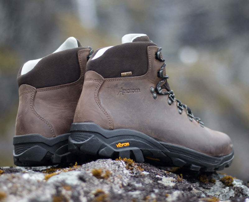 Back and side view Anatom Q2 Classic Leather Hiking Boots