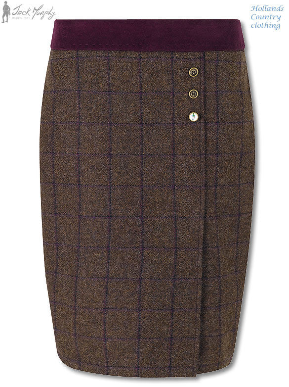 ainie Burren tweed skirt from jack murphy