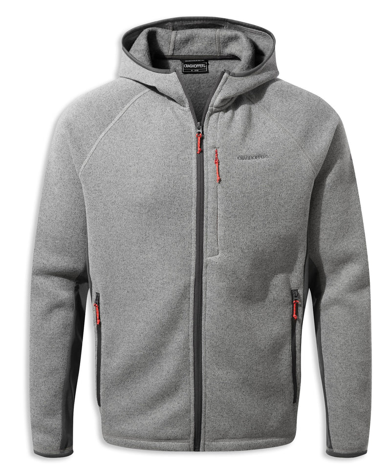Soft Grey Craghoppers Apollo Hooded Fleece Jacket