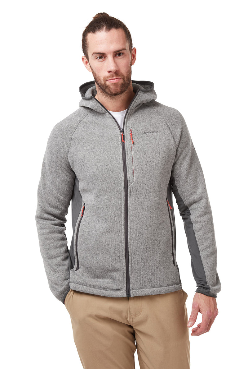 Soft Grey Marl Craghoppers Apollo Hooded Fleece Jacket