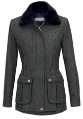 Jack Murphy Ashley Tweed Coat - Winter Rust Herringbone