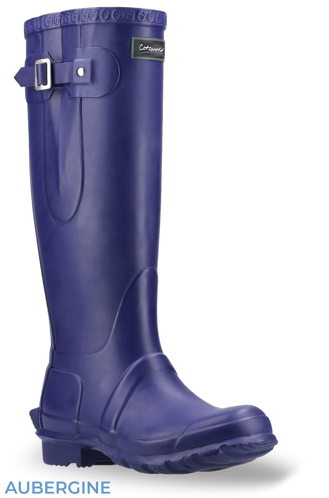 Aubergine Cotswold Windsor Buckle Strap Rubber Wellingtons
