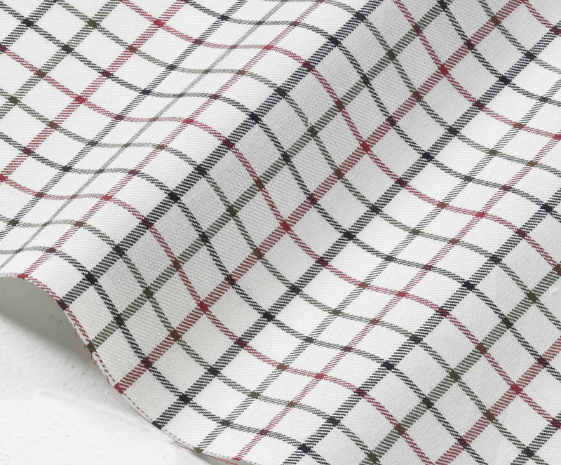 Red Green Navy Tattersall Check