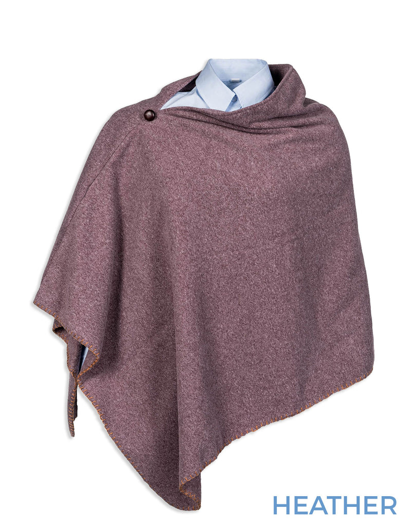 Baleno Shirley Poncho | Slate Green, Heather,