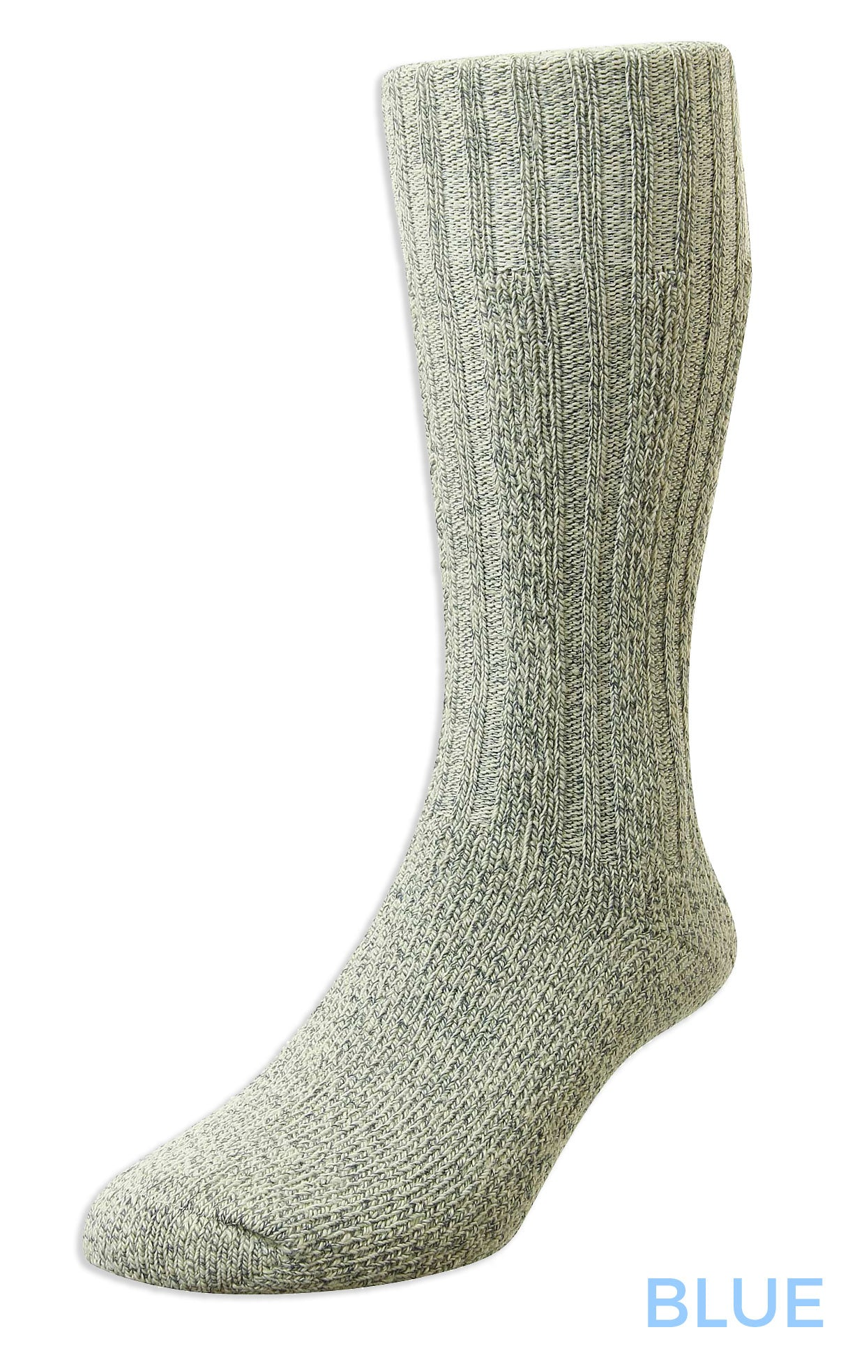 blue HJ Hall Cotton Rich Boot Sock