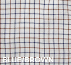 Blue Brown tattersall check