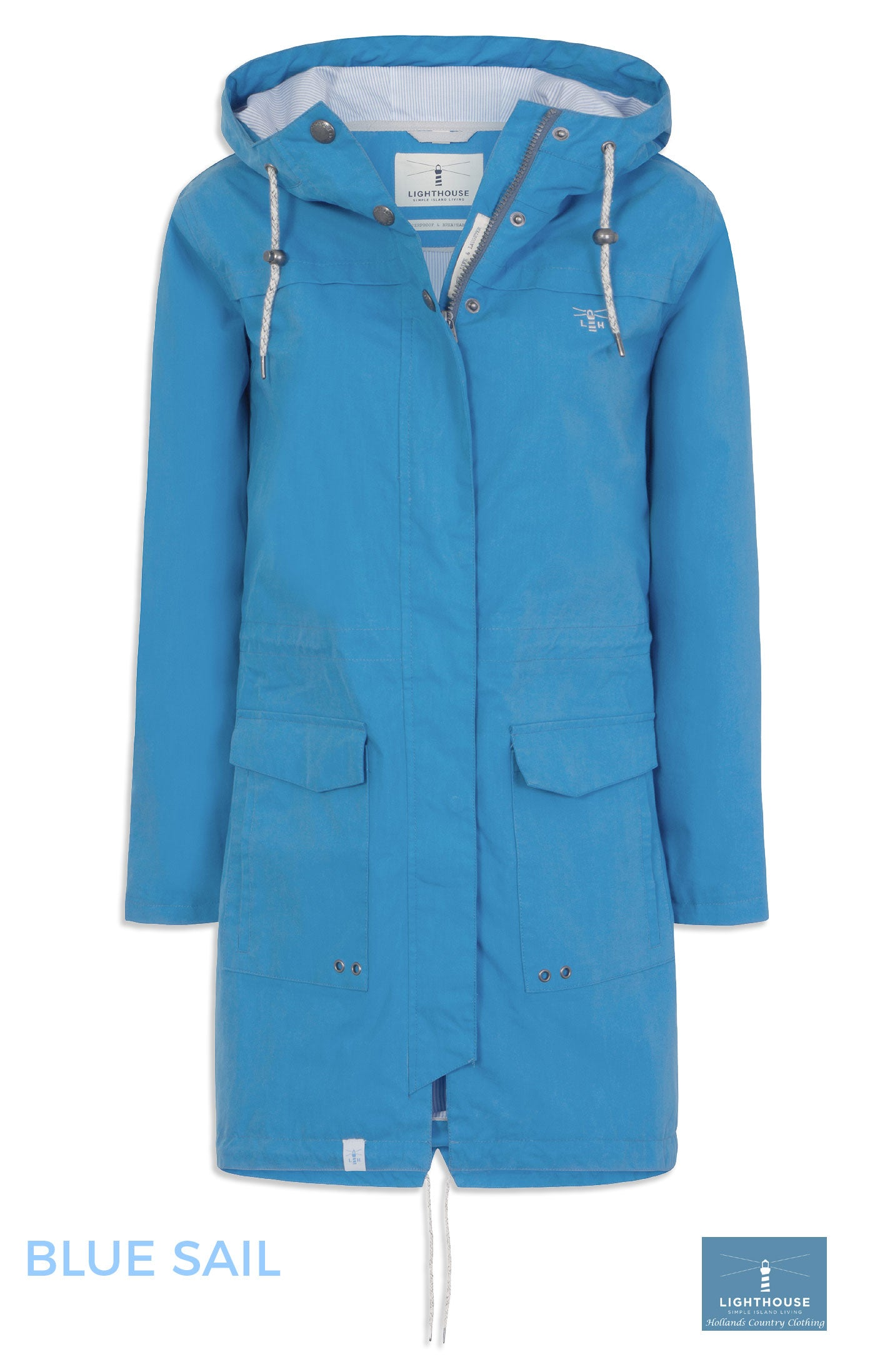 Lighthouse Paige Parka Waterproof Jacket in  Blue sail