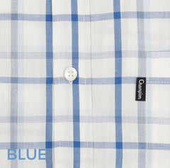 NEW - A fresh Blue or Navy based check that's ideal for keeping cool this Summer
