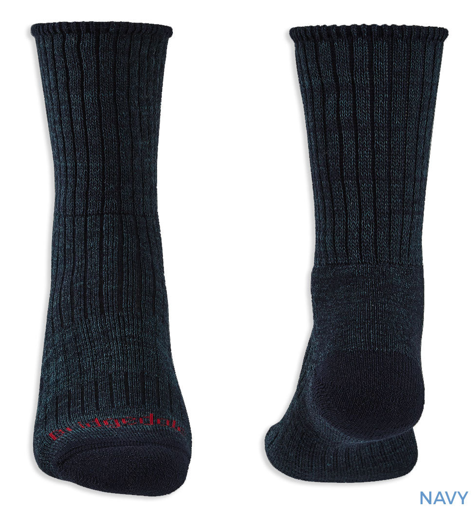 Heel toe and cuff detail Bridgedale Hike Midweight Comfort Sock