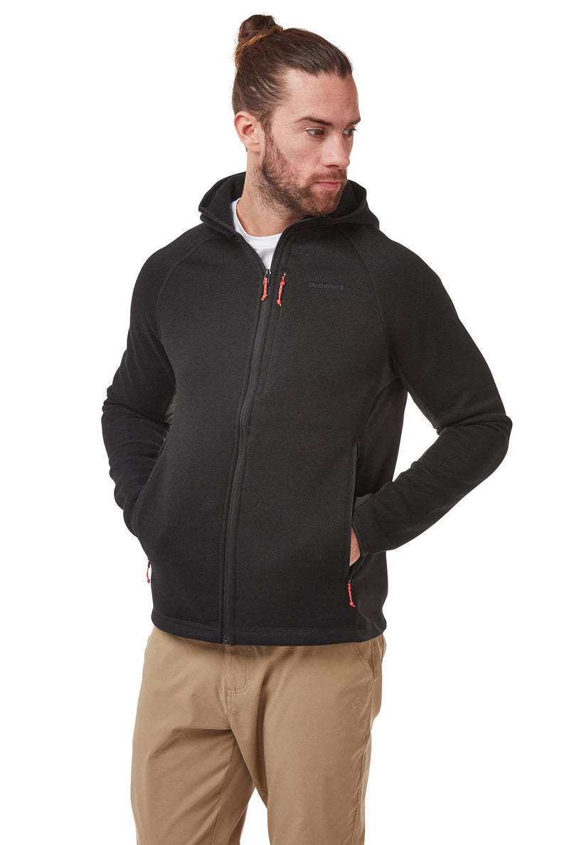 Apollo Man's Fleece Top by Craghoppers  Black Marl