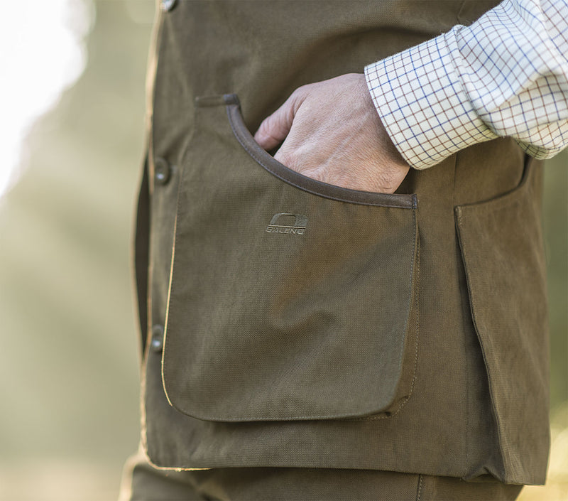 Pocket detail Dolman Traditional Shooting Vest by Baleno