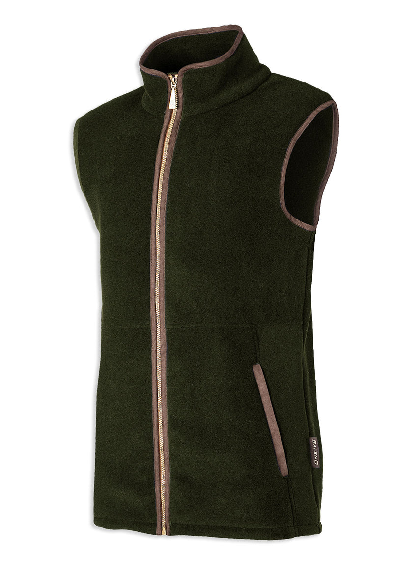 Green khaki Baleno Highfield Fleece Gilet
