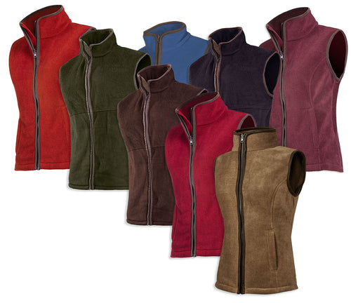 Baleno Sally Ladies Fleece Gilet in eight attractive colours