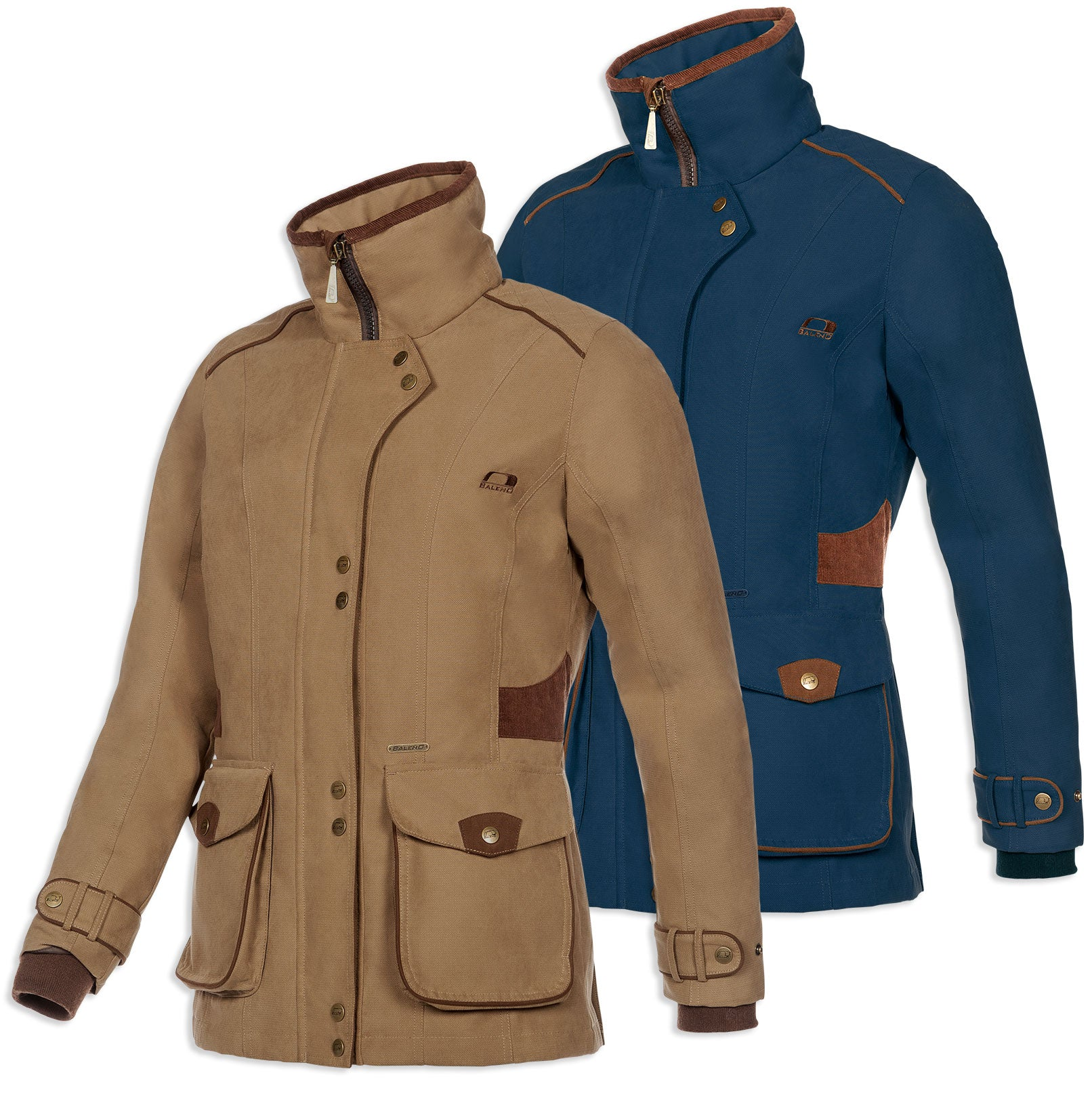 Baleno Ladyfield Waterproof Jacket | Navy, Camel
