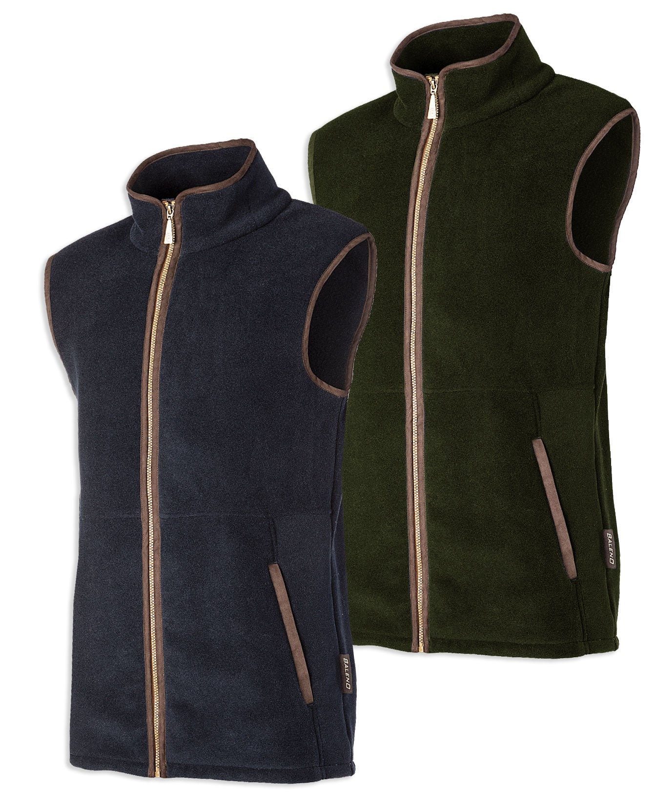 Baleno Highfield Fleece Gilet in Khaki Green and Navy