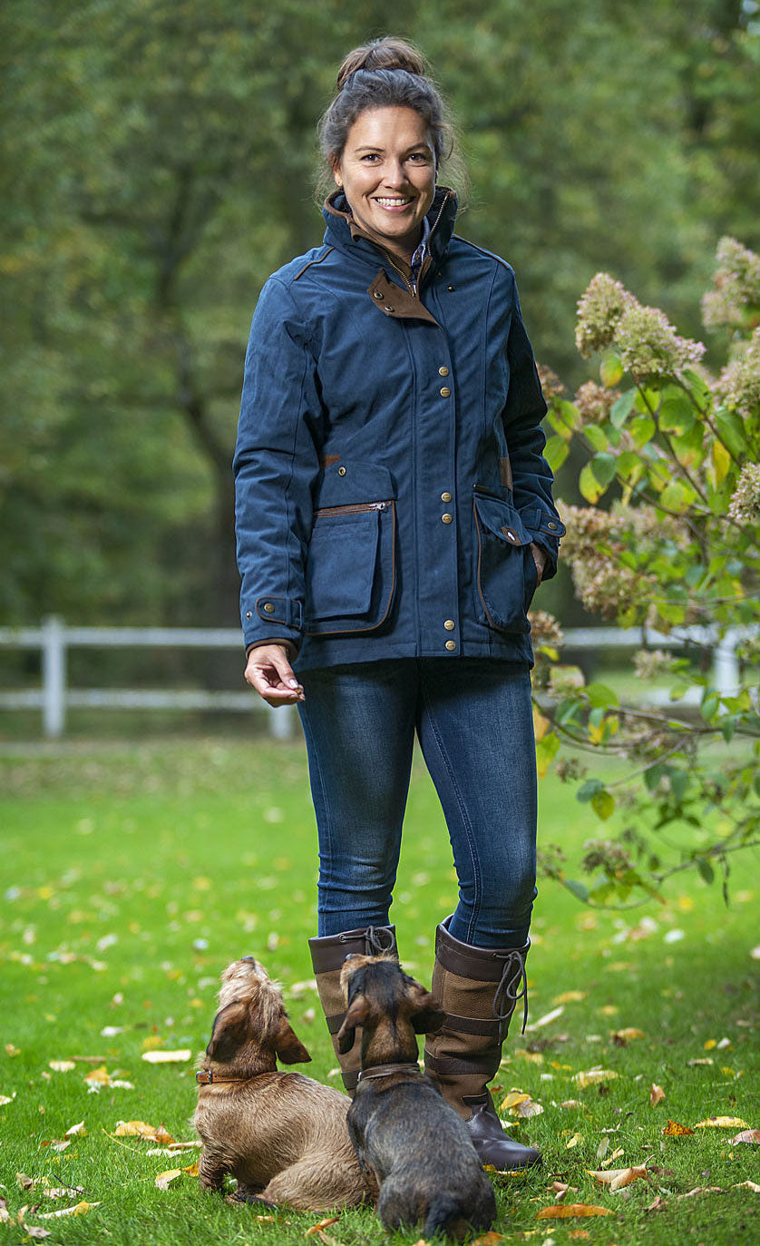 Navy Waterproof Baleno Coat