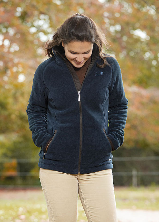 Equestrian navy Southwell Ladies Waterproof and Breathable Fleece by Baleno