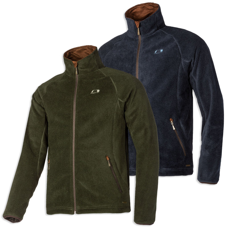 Baleno Watson Waterproof Fleece Jacket Navy & Khaki Green