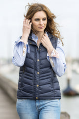 Navy Blue Baleno Astrid Quilted Gilet
