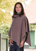 Heather colour A classically styled lightweight marled poncho in three beautiful colours