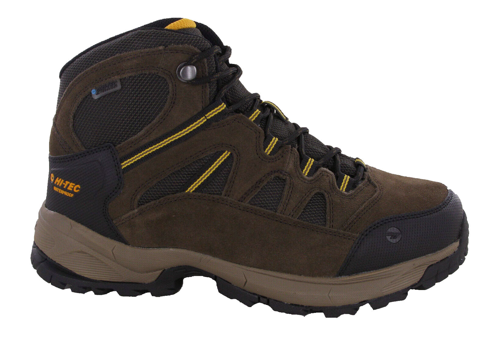 Dark Chocolate Gold Hi-Tec Bandera Lite Waterproof Hiking Boots