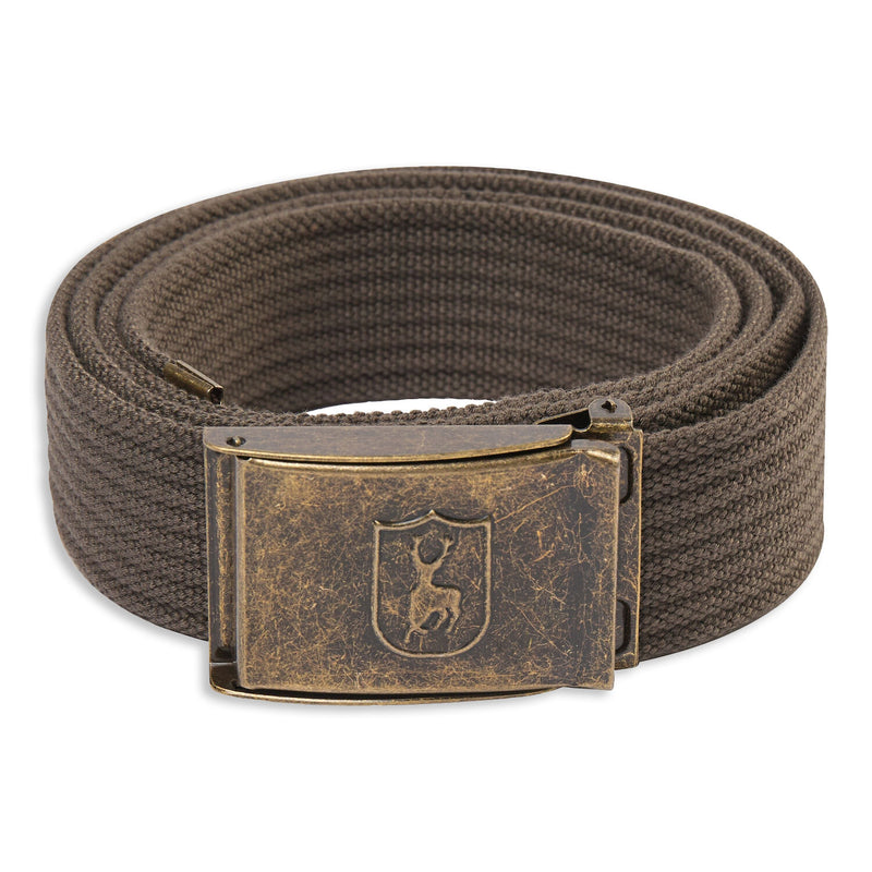 Bark Deerhunter Canvas Deer Buckle Belt