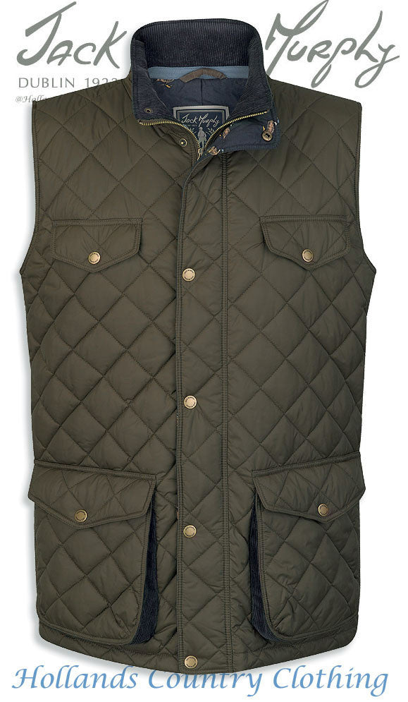 Jack Murphy Barry Quilted Gilet / Bodywarmer | Large, 3XL Only