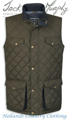 Jack Murphy Barry Quilted Gilet / Bodywarmer | Limited Stock