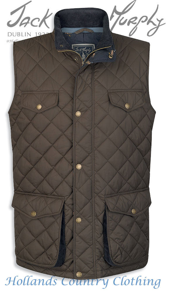 Barry weather for ducks khaki Men's Quilted Bodywarmer JACK MURPHY BOD 124