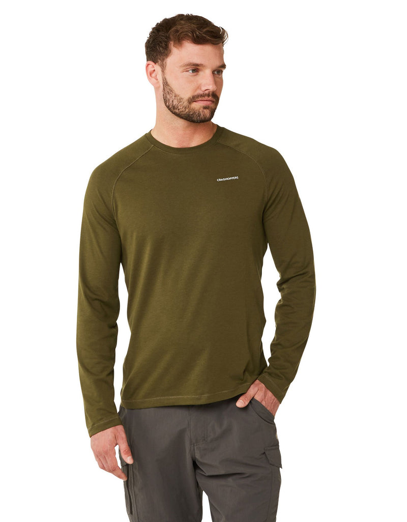 Moss Green Bayame Long Sleeved T-Shirt by Craghoppers