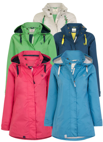 ladies Lighthouse Beachcomber Waterproof Jacket in five colours