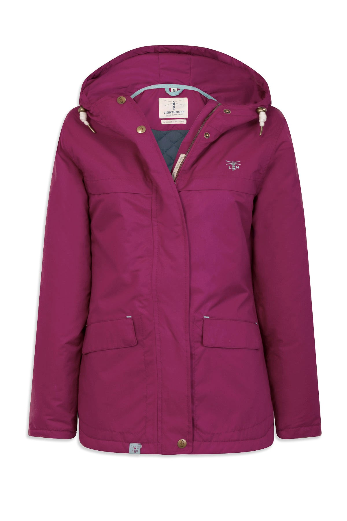 purple berry colour Beaufort Waterproof Jacket by Lighthouse