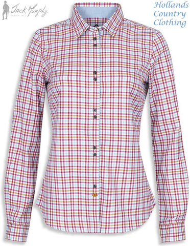 BECKY Shirt in Meadow Rue JACK MURPHY SHI - 089 - ladies colourful check shirt