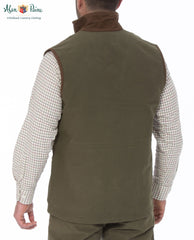 rear view Berwick Men's Waterproof Waistcoat by Alan Paine