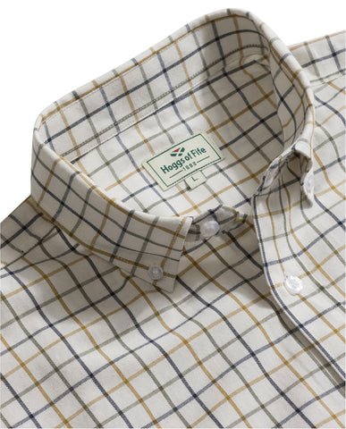 Hoggs of Fife Country Tattersall Check Short Sleeve Shirt