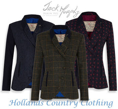 Beth in all three tweeds by Jack Murphy