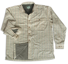 Birch Micro Fleece Lined Tattersall Large Check Shirt by Hoggs of Fife.
