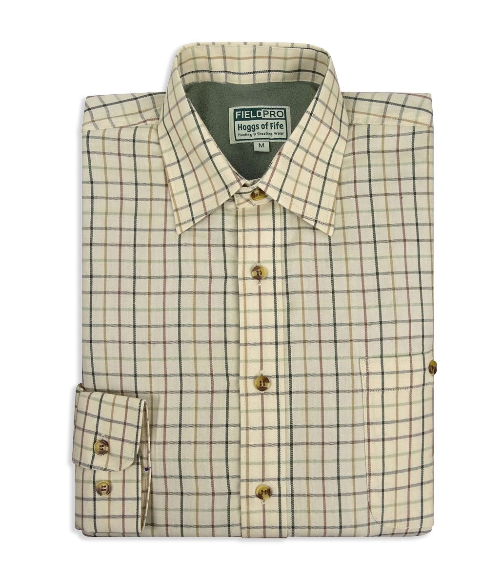 Birch Micro Fleece Lined Tattersall Large Check Shirt by Hoggs of Fife