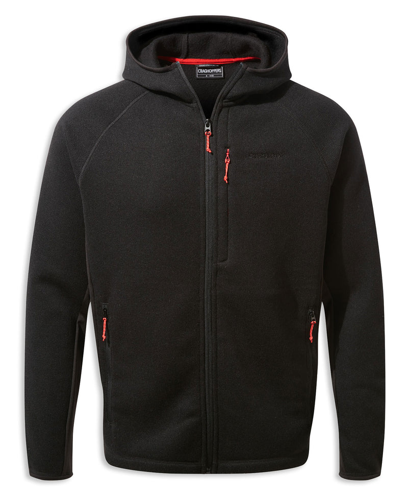 Black Marl Craghoppers Apollo Hooded Fleece Jacket