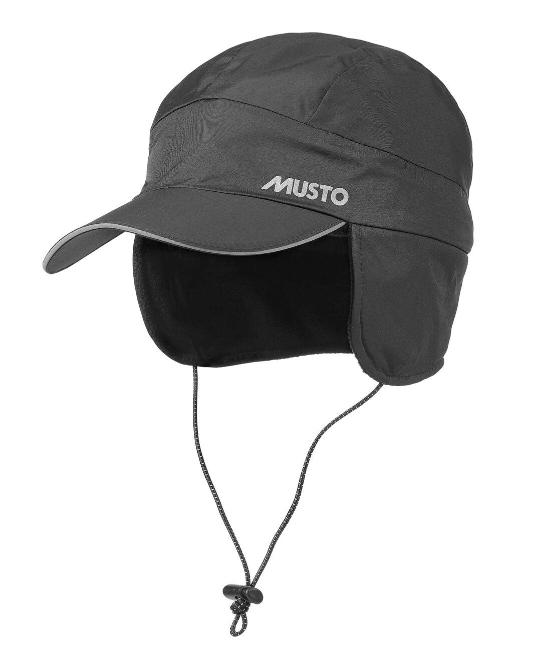 Black Fleece Lined Waterproof Cap by Musto