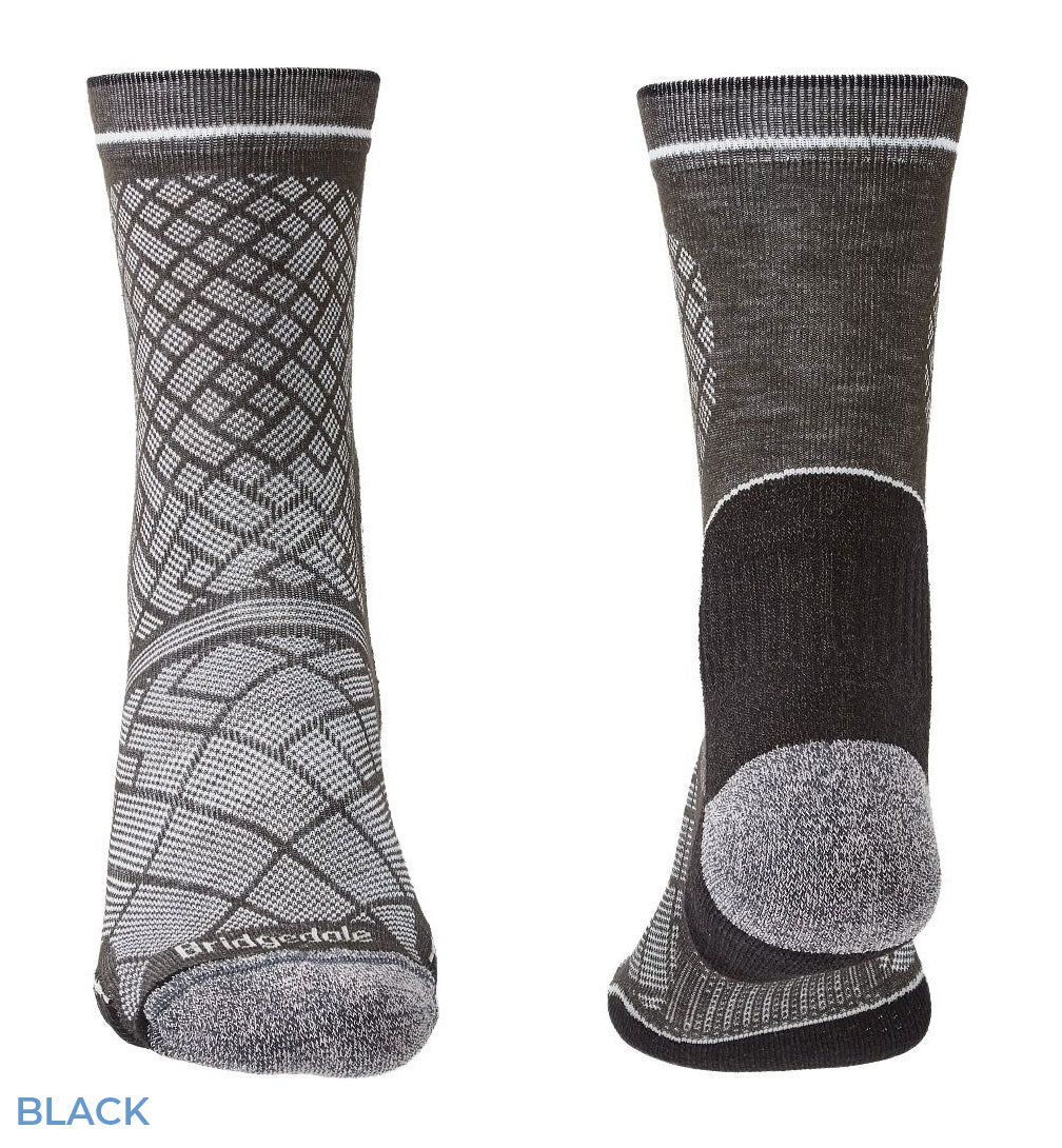 Black Hike Ultra Light Coolmax® Performance Boot Sock by Bridgedale