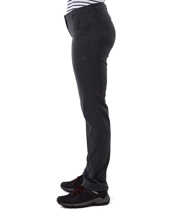 Graphite side view Craghoppers Kiwi Pro II Ladies Trousers