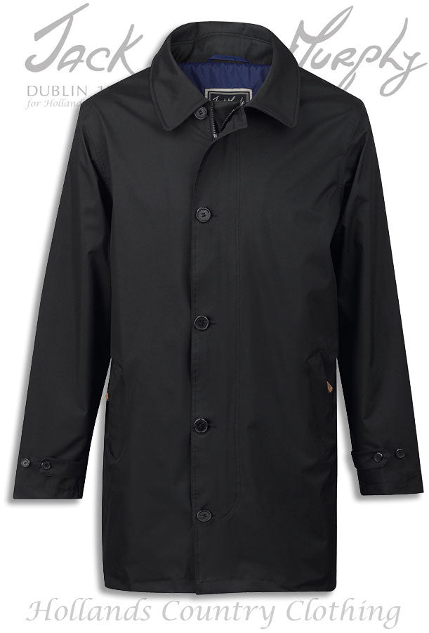 Jack Murphy Patrick Men's Waterproof Mac in black