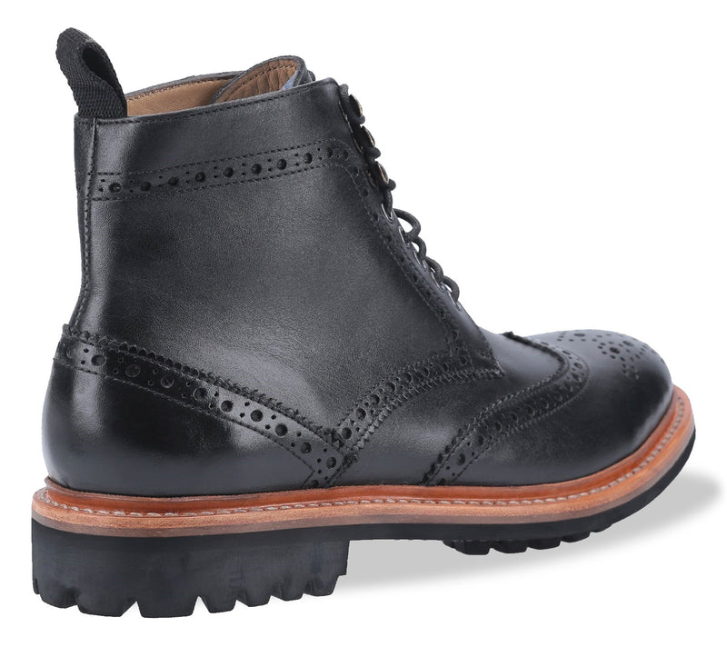 Black with tan leather goodyear welt