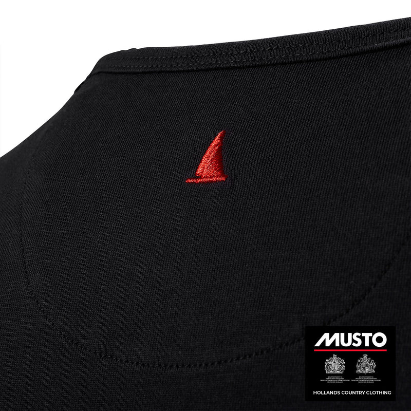 Back detail with red Sail Musto Logo