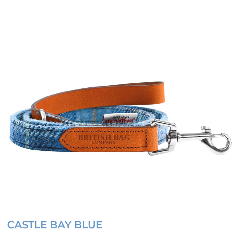 Castle Bay Blue British Bag Co. Harris Tweed Dog Lead