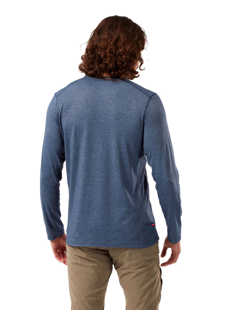 Back Talen Soft Blue Craghoppers NosiLife Talen Long Sleeve T-Shirt