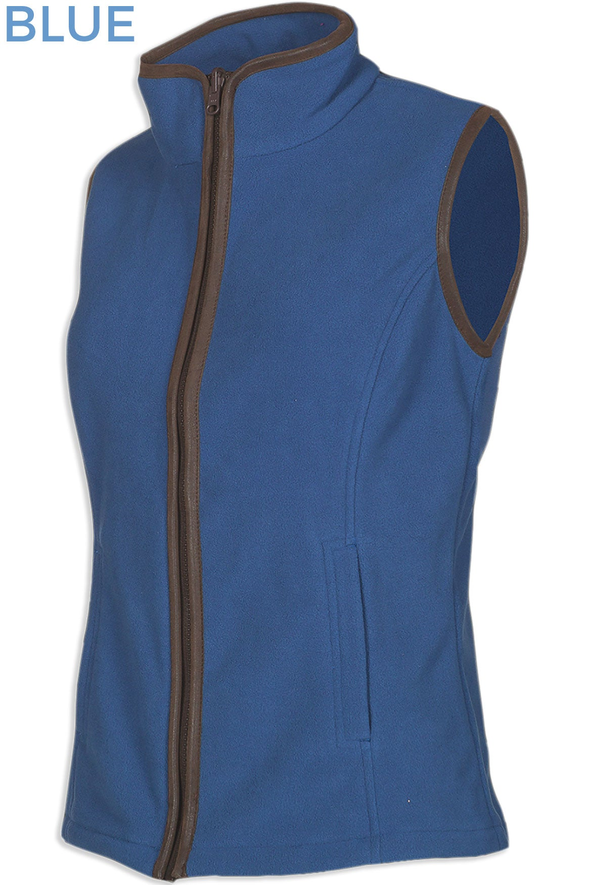 Sally Fleece Gilet in Blue